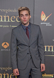 (UK RIGHTS ONLY) The Twilight Saga: Breaking Dawn - Part 2 Madrid Premiere. Actor Robert Pattinson attends the premiere at Villa Magna Hotel. Madrid, Spain. 15/11/2012<br />BYLINE MUST READ : DND/EAGLEPRESS/GOTCHA IMAGES<br /><br />Copyright by © Gotcha Images Ltd. All rights reserved.<br />Usage of this image is conditional upon the acceptance <br />of Gotcha Images Ltd, terms and conditions available at<br />www.gotchaimages.com