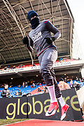 Crystal Palace #23 Pape Souaré during the warm up at Premier League match between Crystal Palace and Burnley at Selhurst Park, London, England on 13 January 2018. Photo by Sebastian Frej.