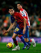 "8/2/2008 NATIONAL SPANISH LEAGUE ""LIGA BBVA"", FC BARCELONA VS SPORTING DE GIJON AT CAMP NOU STADIUM,BARCELONA,SPAIN.SERGIO BUSQUETS . PHOTO:ENRIC FONTCUBERTA"