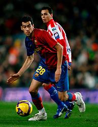 "8/2/2008 NATIONAL SPANISH LEAGUE ""LIGA BBVA"", FC BARCELONA VS SPORTING DE GIJON AT CAMP NOU STADIUM,BARCELONA,SPAIN.SERGIO BUSQUETS . PHOTO:ENRIC FONTCUBERTA"
