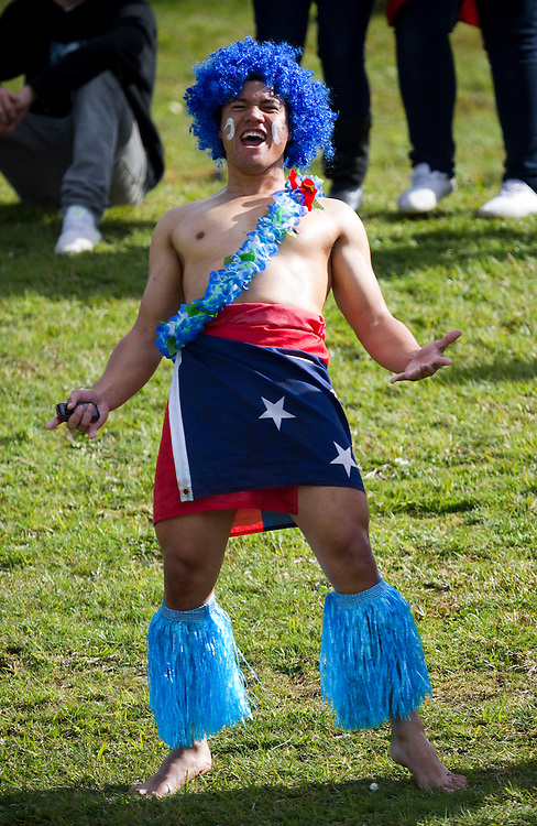 Samoan fan at the pool D match against Namibia at the 2011 Rugby World Cup, Rotorua International Stadium, Rotorua, New Zealand, Wednesday September14, 2011.  Credit: SNPA / Bethelle McFedries