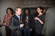 MARTIN AMIS AND HELEN OYEYEMI, party to celebrate the 100th issue of Granta magazine ( guest edited by William Boyd.) hosted by Sigrid Rausing and Eric Abraham. Twentieth Century Theatre. Westbourne Gro. London.W11  15 January 2008. -DO NOT ARCHIVE-© Copyright Photograph by Dafydd Jones. 248 Clapham Rd. London SW9 0PZ. Tel 0207 820 0771. www.dafjones.com.