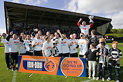 Ayr celebrate - Brechin City v Ayr United, IRN BRU Scottish Football League 1st/2nd Division Play Off Final 2nd leg at Glebe Park..© David Young Photo.5 Foundry Place.Monifieth.Angus.DD5 4BB.Tel: 07765252616.email: davidyoungphoto@gmail.com.http://www.davidyoungphoto.co.uk