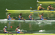 11/07/03/03 .2003 FISA Rowing World Cup - Lucerne.- Switzerland.Heat of the M4-ITA M4- {centre] Bow Niccolo Mornati, Raffaello Leonardo,Lorenzo Carboncini and Carlo Mornati [Mandatory Credit: Peter Spurrier:intersport Images]