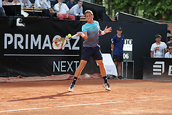 May 22, 2018 - Lyon, France - CARBALLES BAENA ROBERTO DURING THE MATCH FOR  ATP 250 IN LYON 22.05.2018 (Credit Image: © Panoramic via ZUMA Press)
