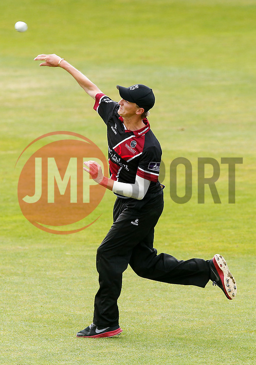 Max Waller of Somerset in action - Mandatory byline: Rogan Thomson/JMP - 07966 386802 - 26/07/2015 - SPORT - CRICKET - Taunton, England - County Ground - Somerset v Derbyshire Falcons -Royal London One-Day Cup.