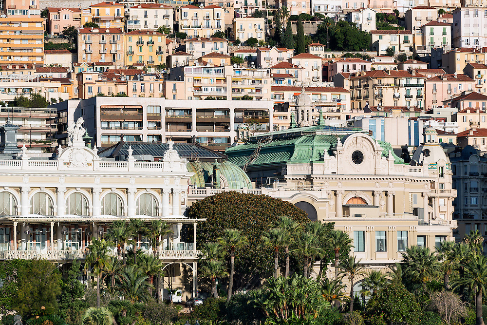 View of downtown Mote Carlo, Monaco
