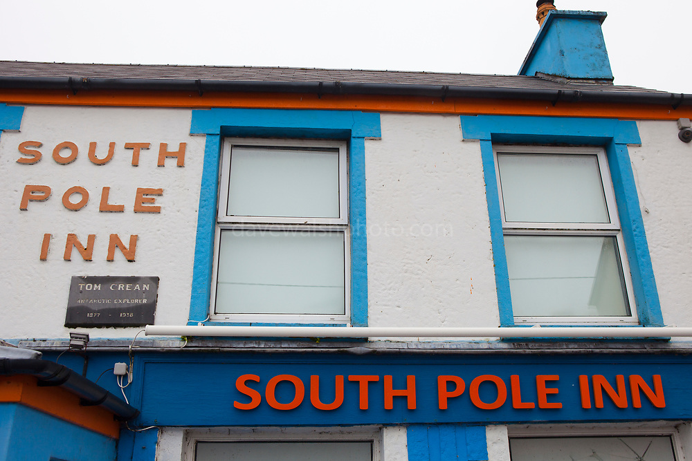 The South Pole Inn, pub owned by polar explorer Tom Crean, Annascaul, Dingle Peninsula, Co. Kerry, Ireland.