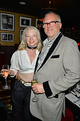 JOE CORRE and ? at Hoping's Greatest Hits - the 10th Anniversary of The Hoping Foundation's charity benefit held at Ronnie Scott's, 47 Frith Street, Soho, London on 16th June 2016.