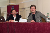 Felim MacDermott and Beau Willimon of House of Cards  at the Galway Film Centre's Annual Seminar Talking Production 2014 at the Connemara Coast Hotel. www.galwayfilmcentre.ie. Photo:- Andrew Downes