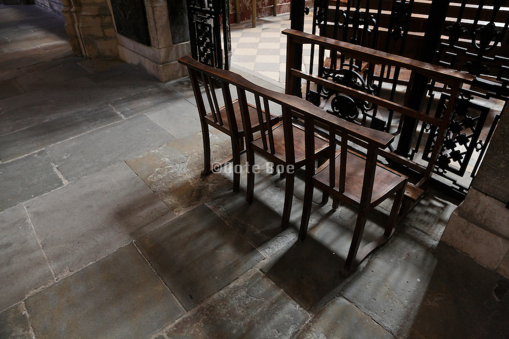 chairs in a church