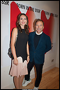 ELENA SHCHUKINA; TONY CHAMBERS;, Born in the USSR, Design exhibition opening. Gallery Elena Shchukina, Beauchamp Place, Knightsbridge. London. 15 September 2014.