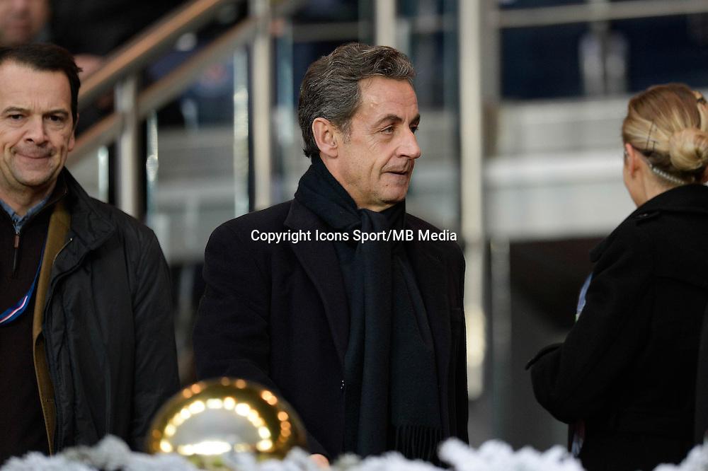 Nicolas SARKOZY - 20.12.2014 - Paris Saint Germain / Montpellier - 17eme journee de Ligue 1 -<br />Photo : Aurelien Meunier / Icon Sport