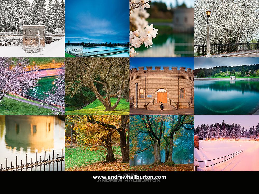 Mount Tabor Park 2019 Calendar Back Cover, Portland, Oregon