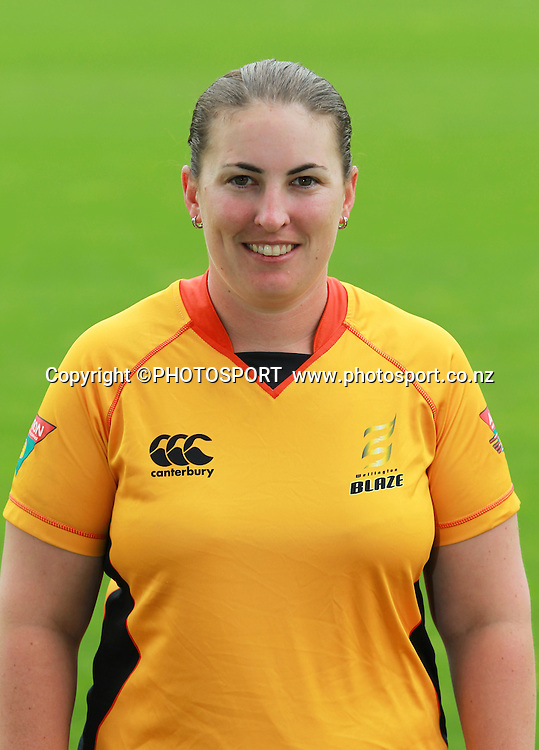 Megan Wakefield. Wellington Blaze head shots, Bert Sutcliffe Oval, Lincoln University, Thursday 29 December 2011. Photo : Joseph Johnson / photosport.co.nz