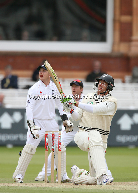 Jacob Oram smashes a six. England v New Zealand, Day 5, 1st Npower Test, Lord's Cricket Ground, St.Johns Wood, London. 19 May 2008. Photo: Offside/PHOTOSPORT