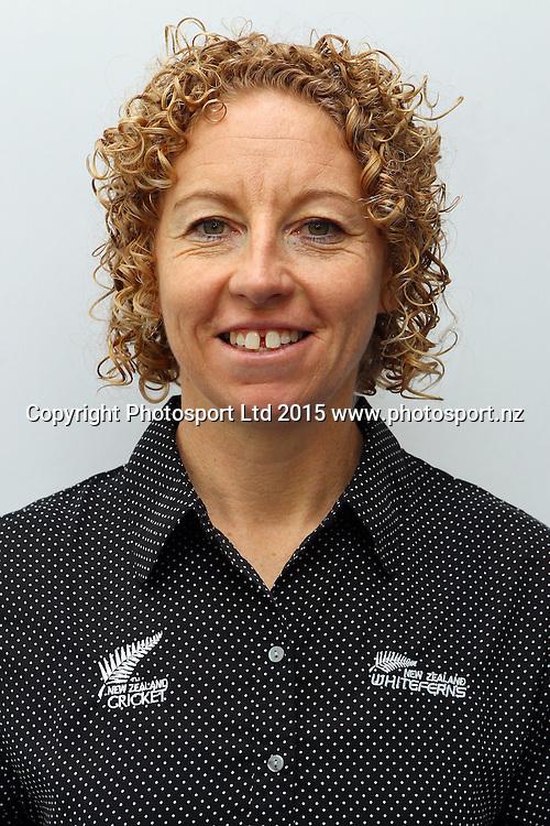 Coach Haidee Tiffen, New Zealand womens international cricket team headshots. Auckland International Airport, Auckland. 18 June 2015. Copyright Photo: William Booth / www.photosport.nz