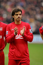 LIVERPOOL, ENGLAND - SATURDAY FEBRUARY 5th 2005: Liverpool's Fernando Morientes during the Premiership match against Fulham at Anfield. (Pic by David Rawcliffe/Propaganda)
