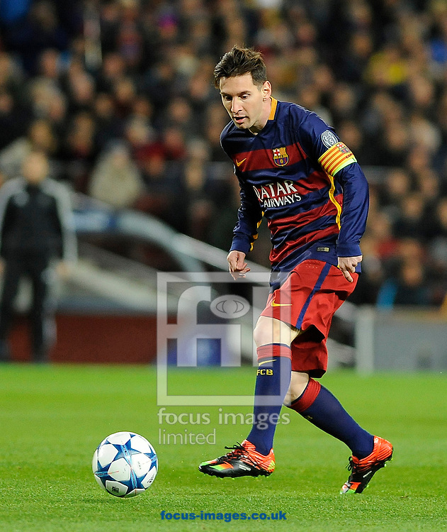 Lionel Messi of FC Barcelona during the UEFA Champions League match at Camp Nou, Barcelona<br /> Picture by Stefano Gnech/Focus Images Ltd +39 333 1641678<br /> 24/11/2015