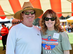 May 3, 2019 - Fullerton, California, U.S. - Dan Faley and Lisa Whaley during the 34th annual Goodwill of Orange County Faley Special Games at Cal State Fullerton on Friday, May 3, 2019.  The college friends started the event as a class project in 1985. The event is Orange CountyÃ•s largest non-competitive, inclusive sporting event for athletes with developmental and intellectual disabilities. More than 2,500 special athletes play games including football throw, basketball, bean bag toss, volleyball, Frisbee toss, whiffle ball. (Credit Image: © Jeff Gritchen/SCNG via ZUMA Wire)