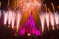 SpectroMagic fireworks show, Disney World, Orlando, Florida USA