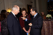 Lord Jacon Rothschild and Prof David KHALILI Private view of 'Heaven on Earth' exhibition. Hermitage. Somerset House. 24 March 2004. ONE TIME USE ONLY - DO NOT ARCHIVE  © Copyright Photograph by Dafydd Jones 66 Stockwell Park Rd. London SW9 0DA Tel 020 7733 0108 www.dafjones.com