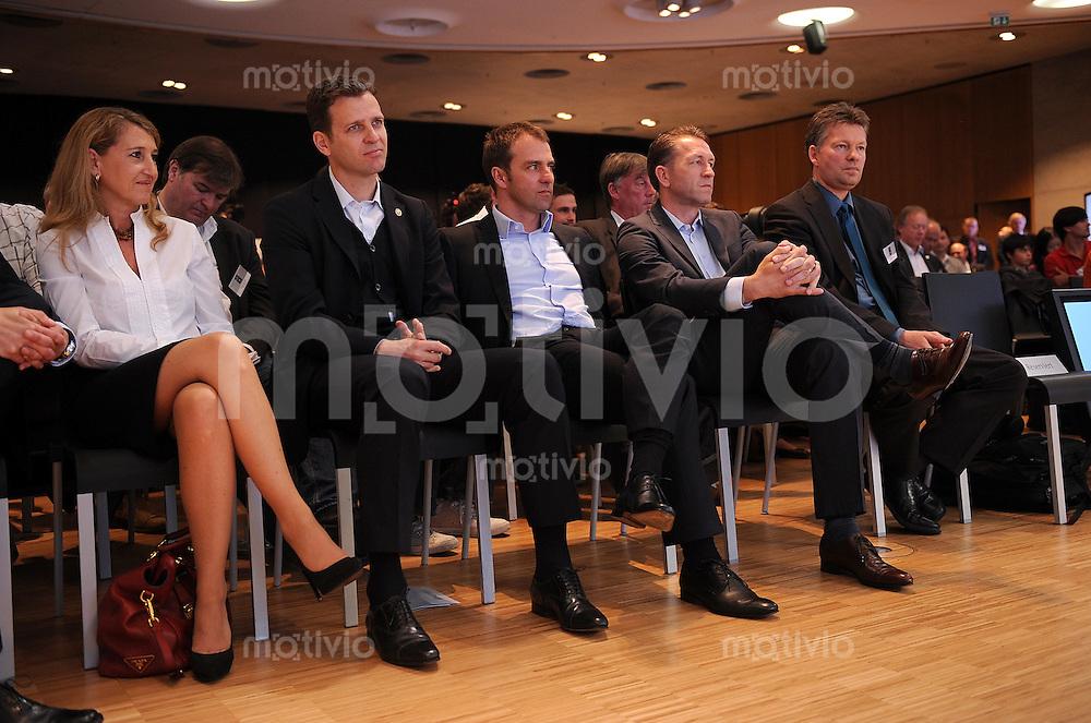 Fussball International Deutsche Nationalmannschaft    Deutscher Fussballbund , DFB Pressekonferenz  06.05.2010 Oliver Bierhoff, Hansi Flick, Andreas Koepke, Koepcke