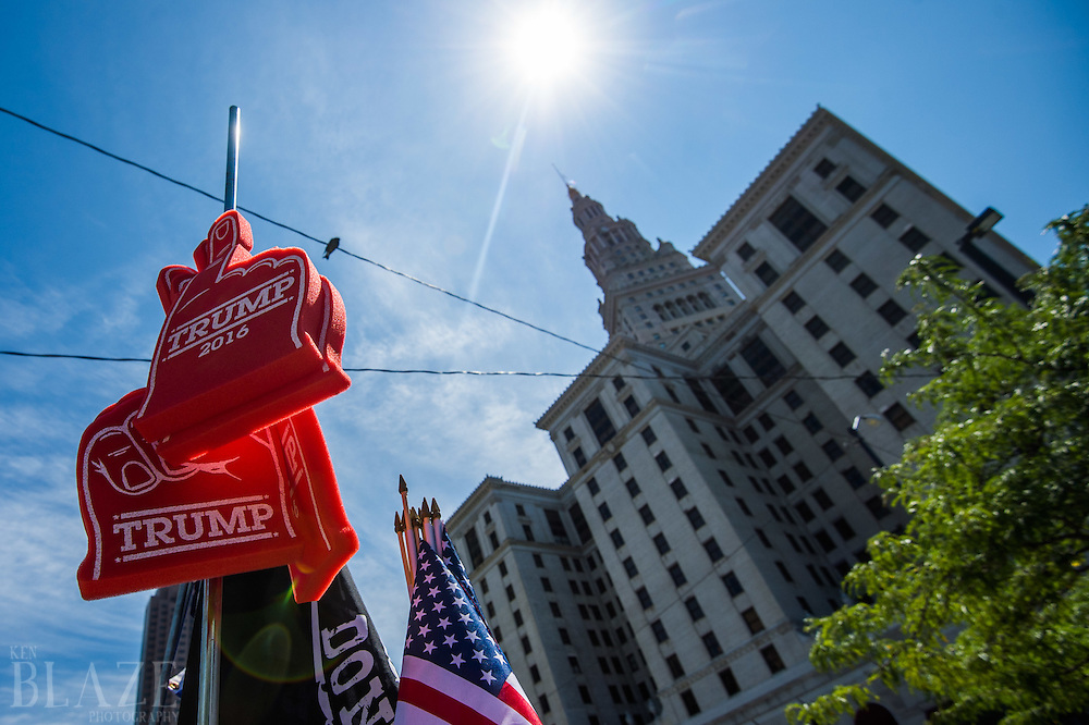 Jul 20, 2016; Cleveland, OH, USA; General scene in downtown Cleveland at the site of the Republican National Convention.