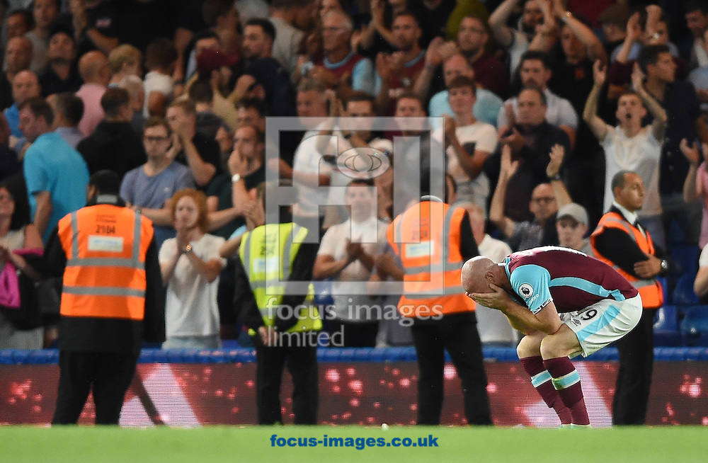 James Collins of West Ham United reacts at full time of the Premier League match at Stamford Bridge, London<br /> Picture by Daniel Hambury/Focus Images Ltd +44 7813 022858<br /> 15/08/2016