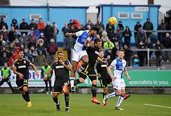 Ellis Harrison of Bristol Rovers gets a header away - Mandatory by-line: Neil Brookman/JMP - 18/11/2017 - FOOTBALL - Memorial Stadium - Bristol, England - Bristol Rovers v AFC Wimbledon - Sky Bet League One