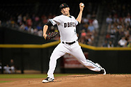 Sep 8, 2017; Phoenix, AZ, USA; Arizona Diamondbacks starting pitcher Patrick Corbin (46) delivers a pitch in the first inning against the San Diego Padres at Chase Field. Mandatory Credit: Jennifer Stewart-USA TODAY Sports