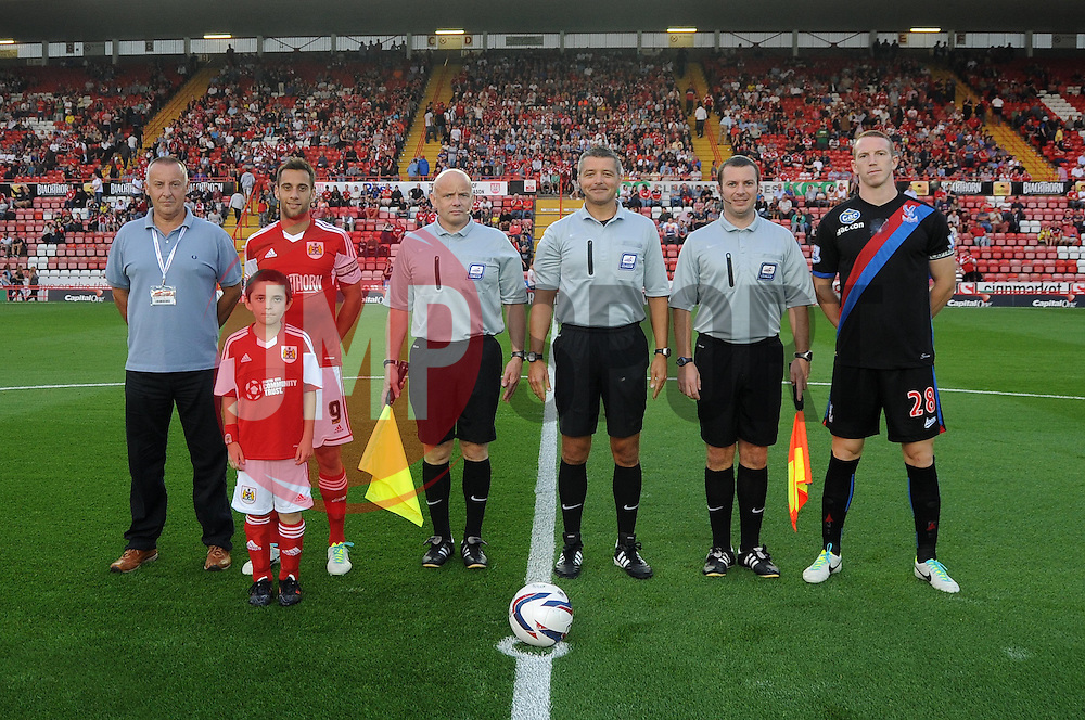 Mascot photo   - Photo mandatory by-line: Dougie Allward/JMP - Tel: Mobile: 07966 386802 27/08/2013 - SPORT - FOOTBALL - Ashton Gate - Bristol - Bristol City V Crystal Palace -  Capital One Cup - Round 2