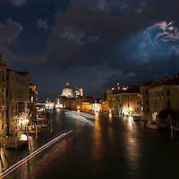 Moon over the Grand Canal, Venice, Itally