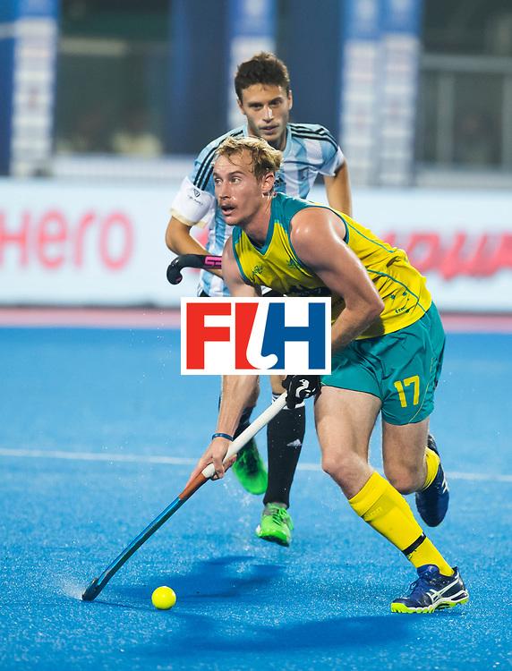 BHUBANESWAR - . Aran Zalewski (Aus)  Hockey World League finals , Final Australia-Argentina (2-1) . Australia wint de finale. COPYRIGHT KOEN SUYK