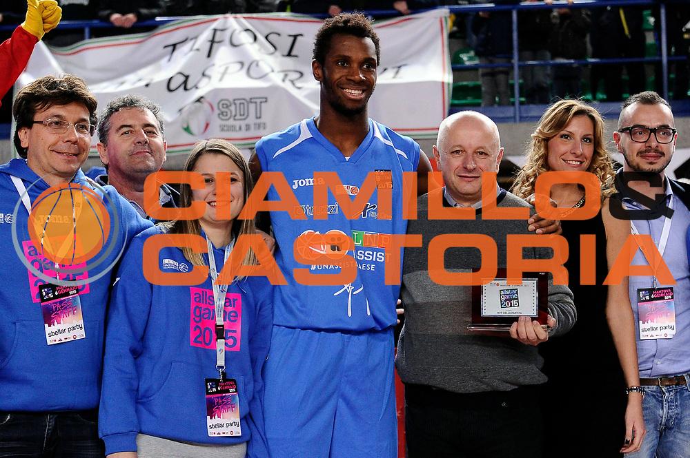DESCRIZIONE : Mantova LNP 2014-15 All Star Game 2015 - Partita<br /> GIOCATORE : Eric Lombardi<br /> CATEGORIA : premiazione<br /> EVENTO : All Star Game LNP 2015<br /> GARA : All Star Game LNP 2015<br /> DATA : 06/01/2015<br /> SPORT : Pallacanestro <br /> AUTORE : Agenzia Ciamillo-Castoria/Max.Ceretti<br /> Galleria : LNP 2014-2015 <br /> Fotonotizia : Mantova LNP 2014-15 All Star Game 2015