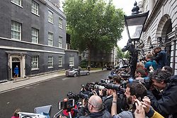 Prime Minister Theresa May leaves number 10 Downing Street, London, on her way to an audience with the Queen. Picture date: Friday June 9th, 2017. Photo credit should read: Matt Crossick/ EMPICS Entertainment.