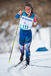 March 17, 2018 - Pyeongchang, South Korea - Grace Miller of the US during the 7.5km Cross Country event Saturday, March 17, 2018 at the Alpensia Biathlon Center at the Pyeongchang Winter Paralympic Games. Photo by Mark Reis (Credit Image: © Mark Reis via ZUMA Wire)