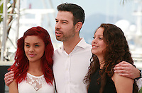 Actress Leidi Gutierrez, director David Pablos and actress Nancy Talamantes at The Chosen Ones film photo call at the 68th Cannes Film Festival Monday May 18th 2015, Cannes, France.
