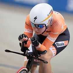 28-12-2018: Wielrennen: NK Baan: Apeldoorn <br /> Amy Pieters plaatst zich als snelste op de achtervolging
