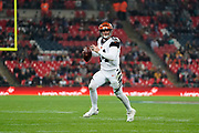 Cincinnati Bengals Quarterback Andy Dalton (14) in action during the International Series match between Los Angeles Rams and Cincinnati Bengals at Wembley Stadium, London, England on 27 October 2019.