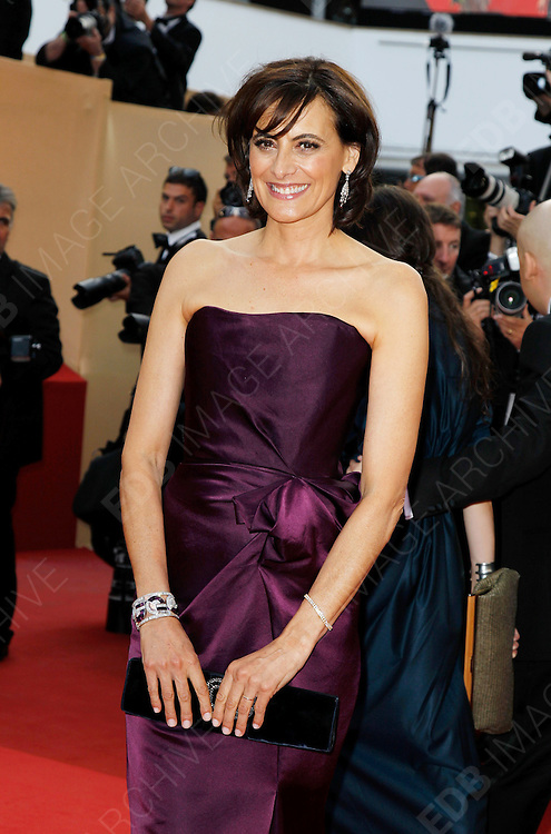 12.MAY.2011. CANNES<br /> <br /> INES DE LA FRESSANGE ARRIVING ON THE RED CARPET FOR THE SLEEPING BEAUTY PREMIERE AT THE 64TH CANNES INTERNATIONAL FILM FESTIVAL 2011 IN CANNES, FRANCE.<br /> <br /> BYLINE: EDBIMAGEARCHIVE.COM<br /> <br /> *THIS IMAGE IS STRICTLY FOR UK NEWSPAPERS AND MAGAZINES ONLY*<br /> *FOR WORLD WIDE SALES AND WEB USE PLEASE CONTACT EDBIMAGEARCHIVE - 0208 954 5968*