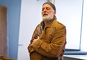 """Renowned actor Stephen Yoakam rehearses scenes from """"An Iliad"""" at the Guthrie Theate on Thursday, April 18, 2013. The show opens on Wednesday, May 8th."""