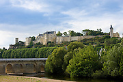 Chateau Chinon and the River Vienne, in the Loire Valley, France
