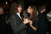 Jamie Byng and Elizabeth Sheinkman , A A Gill party to celebrate the  publication of Table Talk, a collection of his reviews. Hosted by Marco Pierre White at <br />