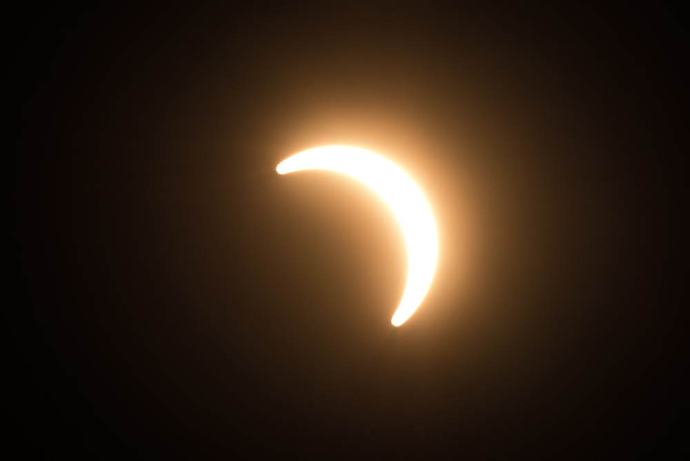 Pictures of the total eclipse taken in Wyoming in 2017.<br />