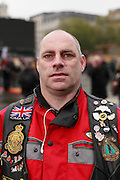 Why have you come and why are you wearing the poppy?<br /> <br /> &ldquo;We ride motorbikes to remember.&rdquo;<br /> Alan<br /> <br /> <br /> Crowds gather in central London on Remembrance Sunday and on the Monday morning to mark the 11th hour.<br /> <br /> Picture by Zute Lightfoot