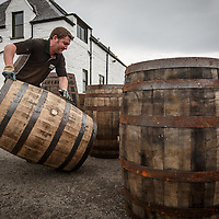 Empty barrels are delivered to Ardbeg Distillery in Port Ellen, Isle of Islay, Scotland, July 15, 2015. Gary He/DRAMBOX MEDIA LIBRARY