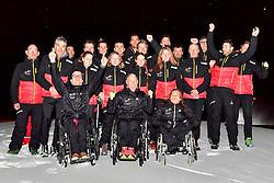 German Para Nordic and Biathlon Team at the 2018 ParaNordic World Cup Vuokatti in Finland