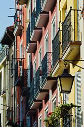 Colourful houses in Vitoria Gasteiz, Spain<br /> <br /> (c) Andrew Wilson   Edinburgh Elite media