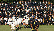 pupils watching a schools rugby match at Durban High School in Durban, South Africa, April 2005.